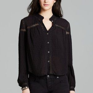 Free People Black Every Day Every Girl Blouse